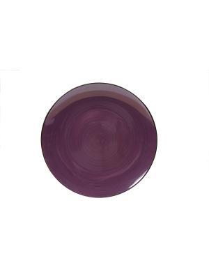 Тарелка Десертная Вайолет Elff Ceramics. Цвет: фиолетовый, черный