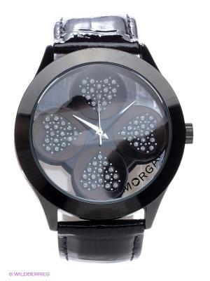 Часы Morgan. Цвет: черный, бордовый