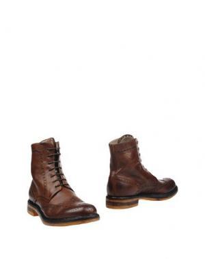 Полусапоги и высокие ботинки CORVARI. Цвет: коричневый