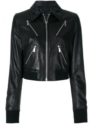 Укороченная куртка Barbara Bui. Цвет: чёрный