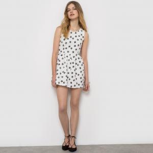 Платье с короткими рукавами MOLLY BRACKEN. Цвет: белый/черный