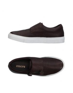 Низкие кеды и кроссовки SEBOY'S. Цвет: темно-коричневый