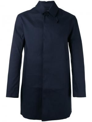 Пальто с потайной застежкой на пуговицы Mackintosh. Цвет: синий