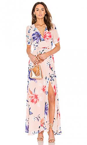 Макси платье jadore Yumi Kim. Цвет: розовый