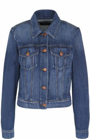 Джинсовая куртка с потертостями J Brand. Цвет: синий