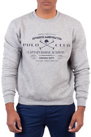 Толстовка POLO CLUB С.H.A.. Цвет: серый