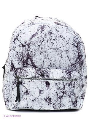 Рюкзак New Look. Цвет: белый, серо-коричневый