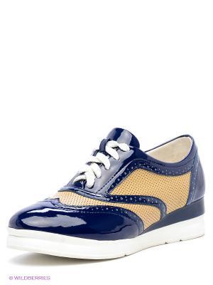 Ботинки Daze. Цвет: темно-синий, бежевый
