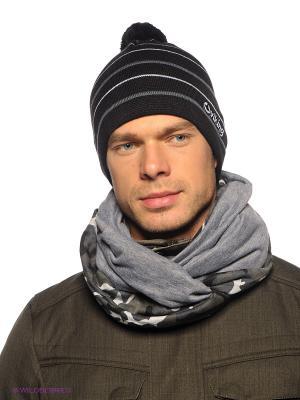 Шапка Viking caps&gloves. Цвет: серый, черный