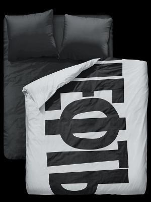 Комплект постельного белья Симачев. Цвет: черный, белый