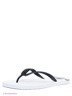 Шлепанцы ADI SUN Adidas. Цвет: белый, черный