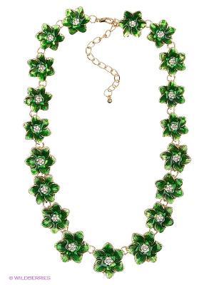 Колье Royal Diamond. Цвет: зеленый