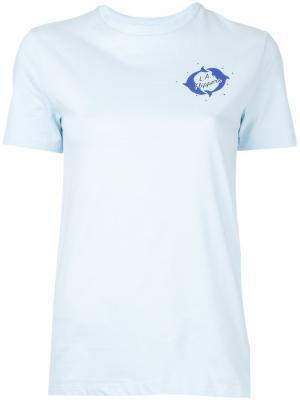 Printed T-shirt Être Cécile. Цвет: синий