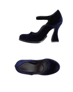 Туфли LUCA VALENTINI. Цвет: темно-синий