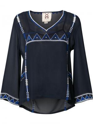 Декорированная прозрачная блузка Figue. Цвет: синий
