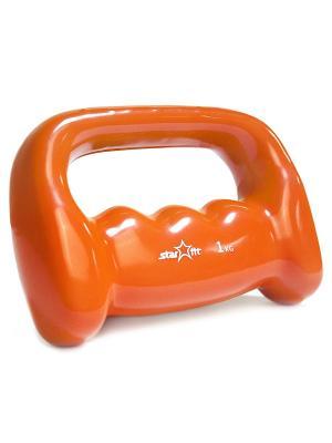 Гантель виниловая STARFIT DB-103 1 кг. Цвет: оранжевый