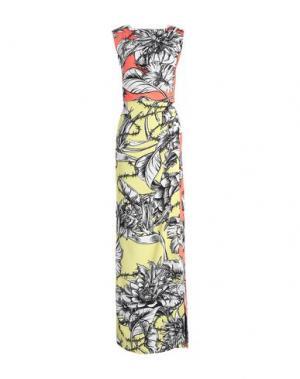 Длинное платье MARCO BOLOGNA. Цвет: лососево-розовый