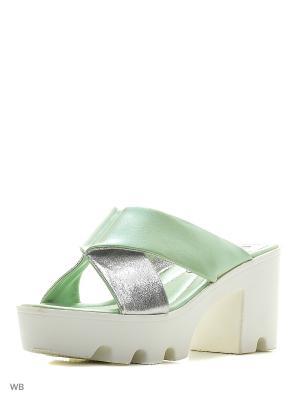 Сабо Wilmar. Цвет: салатовый, серебристый