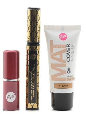 Спайка тушь secretale xtreme ,помада lipstick classic,флюид super mat cower Bell. Цвет: коричневый, темно-бежевый, черный