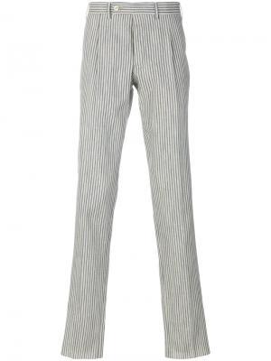 Полосатые брюки прямого кроя Gabriele Pasini. Цвет: телесный