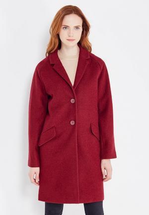 Пальто Zarina. Цвет: бордовый