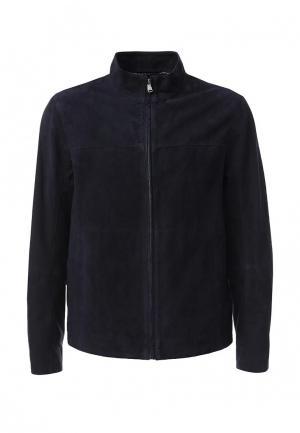 Куртка кожаная Ted Baker London. Цвет: синий
