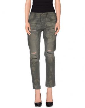 Повседневные брюки TORTOISE. Цвет: зеленый-милитари