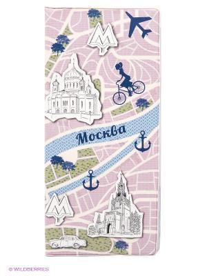 Обложка для путешествия Moscow Kawaii Factory. Цвет: бежевый, голубой