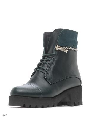 Ботинки ESTELLA. Цвет: темно-зеленый