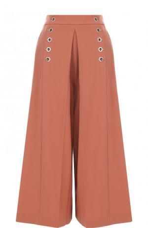 Укороченные расклешенные брюки с карманами Alexander Wang. Цвет: розовый