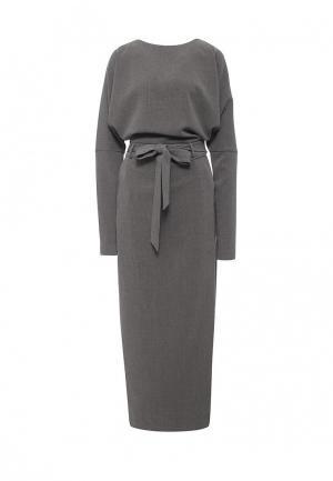 Платье Bezko. Цвет: серый