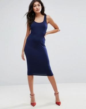 Jasmine Облегающее платье. Цвет: темно-синий