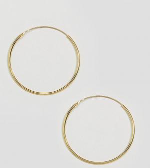 Kingsley Ryan Позолоченные серьги-кольца диаметром 35 мм. Цвет: золотой