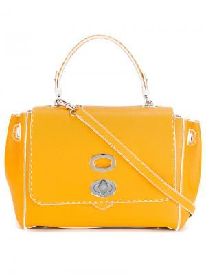 Twist-front shoulder bag Ermanno Scervino. Цвет: жёлтый и оранжевый