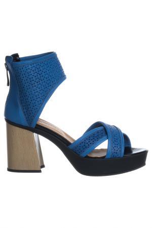 High heels sandals NILA. Цвет: blue