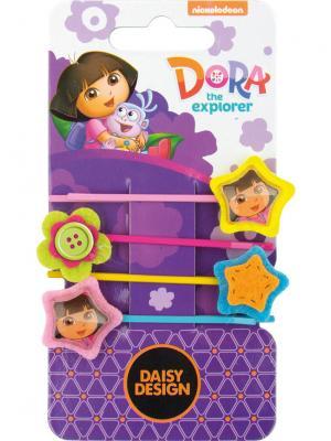Набор заколок Радуга Daisy Design. Цвет: фиолетовый