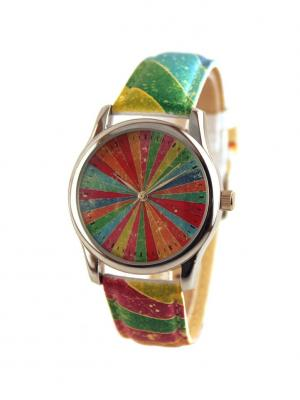 Дизайнерские часы Marmalade Tina Bolotina. Цвет: синий, зеленый, красный, желтый