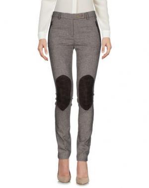 Повседневные брюки TRUE ROYAL. Цвет: темно-коричневый