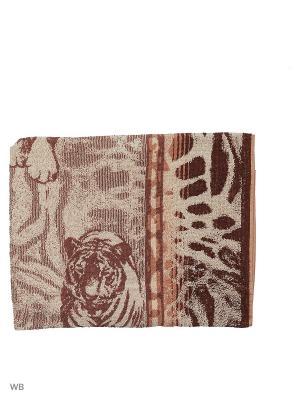 Полотенце махровое пестротканое жаккардовое Этнос Авангард. Цвет: темно-коричневый