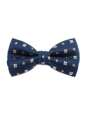 Галстук-бабочка Churchill accessories. Цвет: темно-синий, синий, желтый, белый