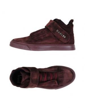 Высокие кеды и кроссовки W DABLIU. Цвет: красно-коричневый