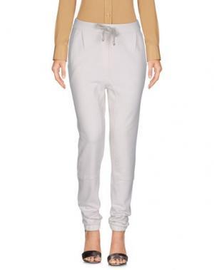 Повседневные брюки JUVIA. Цвет: слоновая кость