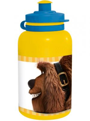 Бутылка пластиковая (спортивная, 400 мл). Тайная жизнь домашних животных Stor. Цвет: желтый