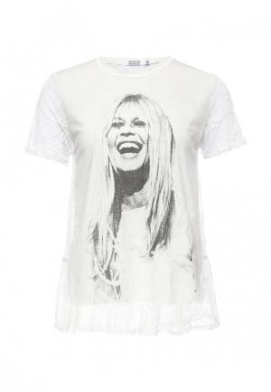 Футболка Brigitte Bardot. Цвет: белый
