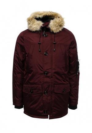 Куртка утепленная Kamora. Цвет: бордовый