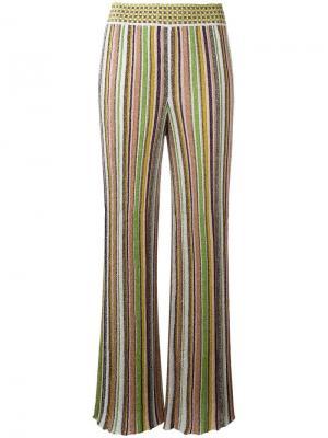 Широкие брюки в полоску Missoni. Цвет: многоцветный