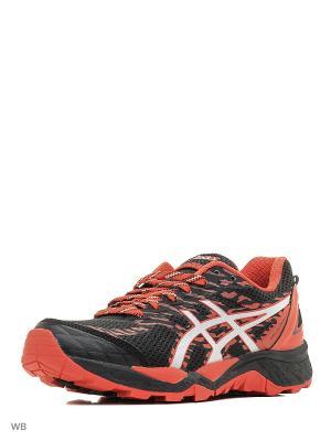 Кроссовки GEL-FujiTrabuco 5 ASICS. Цвет: красный, серебристый, черный