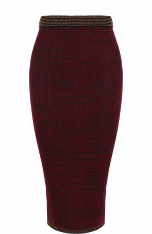 Вязаная юбка-карандаш By Malene Birger. Цвет: бордовый