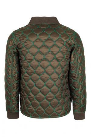 Стеганая куртка Burberry Children. Цвет: зеленый