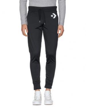 Повседневные брюки CONVERSE. Цвет: черный